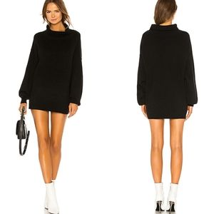 Free People Black Softly Structured Sweater Tunic